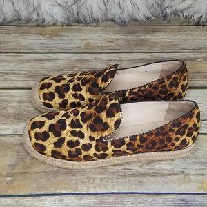 Stuart Weitzman Leoard Print Loafers Size 6.5